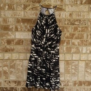Parker Black White Cocktail Dress Size Small
